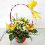 Canasta De Flores Con Besos De Madre Y Orquídeas Andalucia