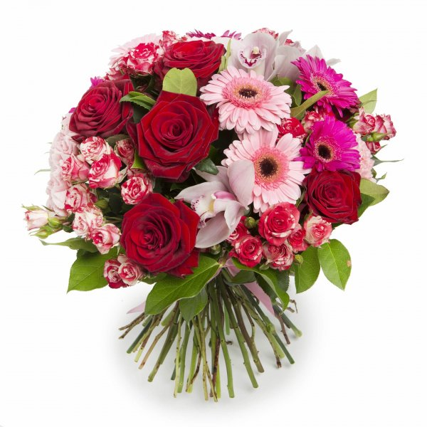 Gran Ramo De Rosas Y Gerberas Para Mujer